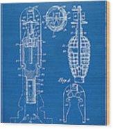 1921 Explosive Missle Patent Minimal Blueprint Wood Print by Nikki Marie Smith