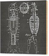 1921 Explosive Missle Patent Minimal Gray Wood Print