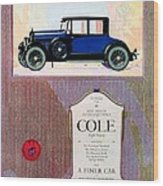 1922 - Cole 890 - Advertisement - Color Wood Print