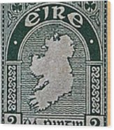 1922 Ireland Eire Stamp Wood Print