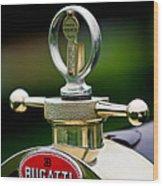 1923 Bugatti Type 23 Brescia Lavocat Et Marsaud Hood Ornament Wood Print