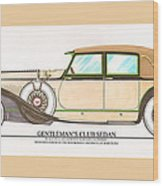 1923 Hispano Suiza Club Sedan By R.h.dietrich Wood Print