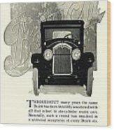 1924 - Buick Six Advertisement Wood Print