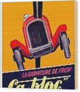 1924 - Ca-bloc Brakes French Advertisement Poster - Color Wood Print