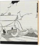 1924 - Georges Irat La Voiture D'elite French Automobile Advertisement Wood Print