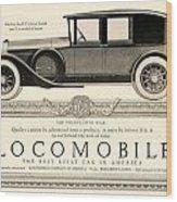 1924 - Locomobile Victoria Sedan Automobile Advertisement Wood Print