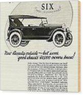 1924 - Oldsmobile Six Automobile Advertisement Wood Print