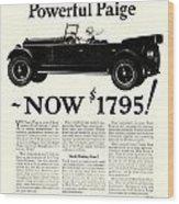 1924 - Paige Automobile Advertisement Wood Print