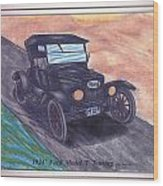 1924' Ford Model-t Touring Wood Print