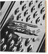 1924 Ford T Roadster Emblem -303bw Wood Print