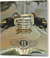 1925 Bentley 3-liter 100mph Supersports Brooklands Two-seater Radiator Cap Wood Print by Jill Reger