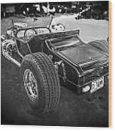 1925 Ford Model T Hot Rod Bw Wood Print