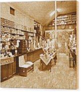1925 Irish Shoe Store Wood Print