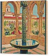 1925 Monreale Vintage Travel Art Wood Print