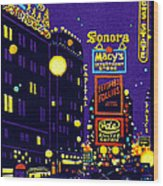 1925 New York City At Night Wood Print
