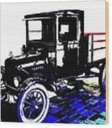 1926 Ford Model T Stakebed Wood Print