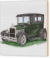1926 Ford Tudor Sedan Street Rod Wood Print