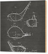 1926 Golf Club Patent Artwork - Gray Wood Print