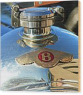 1927 Bentley Hood Ornament Wood Print