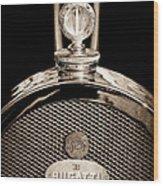 1927 Bugatti Replica Hood Ornament - Emblem Wood Print