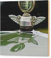 1927 Chandler 4-door Hood Ornament Wood Print by Jill Reger