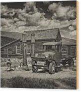 1927 Dodge Braham Bodie Ca Sepia Img 7299 Wood Print