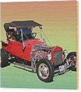 1927 Ford T Bucket Rag Top T Bucket Wood Print