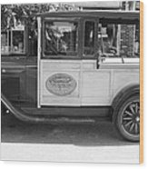 1928 Chevy Half Ton Pick Up In Black And White Wood Print