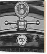 1928 Dodge Brothers Hood Ornament - Moto Meter Wood Print by Jill Reger