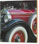 1928 Hupmobile Century Model E4 4 Door Sedan Wood Print