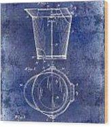 1928 Milk Pail Patent Drawing Blue Wood Print