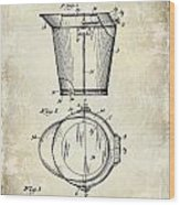 1928 Milk Pail Patent Drawing Wood Print