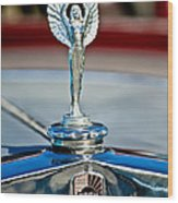 1928 Nash Coupe Hood Ornament 2 Wood Print