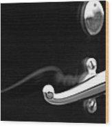 1928 Rolls-royce Phantom 1 Door Handle Black And White Wood Print