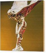 1928 Rolls-royce Phantom I Sedenca De Ville Hood Ornament Wood Print