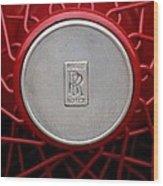 1928 Rolls-royce Phantom I Sedenca De Ville Wheel Emblem Wood Print