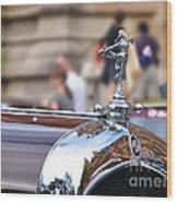 1928 Vintage Chrysler 72 Series - Hood Ornament Wood Print