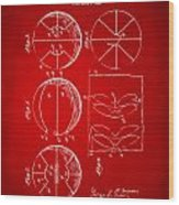 1929 Basketball Patent Artwork - Red Wood Print