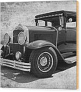 1929 Buick Black And White Wood Print