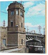 1929 Dix Lift Bridge Wood Print