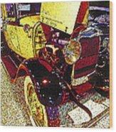1929 Ford Digital Art Wood Print