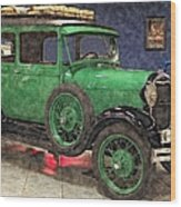 1929 Ford Model A By Liane Wright Wood Print