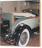 1929 Hudson R Convertible Coupe Wood Print