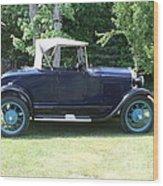 1929 Model-a Roadster 4 Wood Print