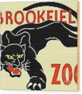 1930 - Brookfield Zoo Poster - Boston - Color Wood Print