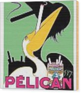 1930 - Pelican Cigarettes French Advertisement Poster - Color Wood Print