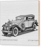 1931 Cadillac Phaeton Wood Print by Jack Pumphrey