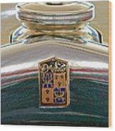1930 Desoto K Hood Ornament Emblem Wood Print