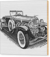 1930 Duesenberg Model J Wood Print