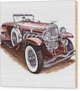 1930 Dusenberg Model J Wood Print